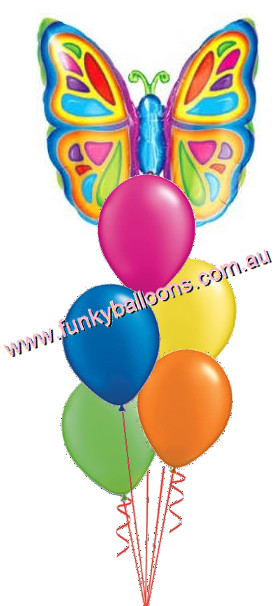 Bright Butterfly Balloon Bouquet 5200 Funky Balloons