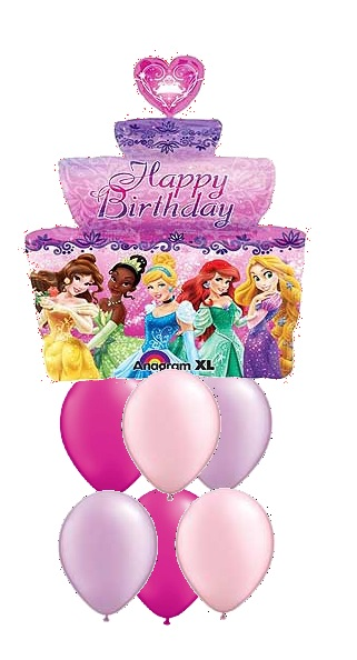 princess birthday cake balloon bouquet 55 00 funky balloons on birthday cake delivery gold coast