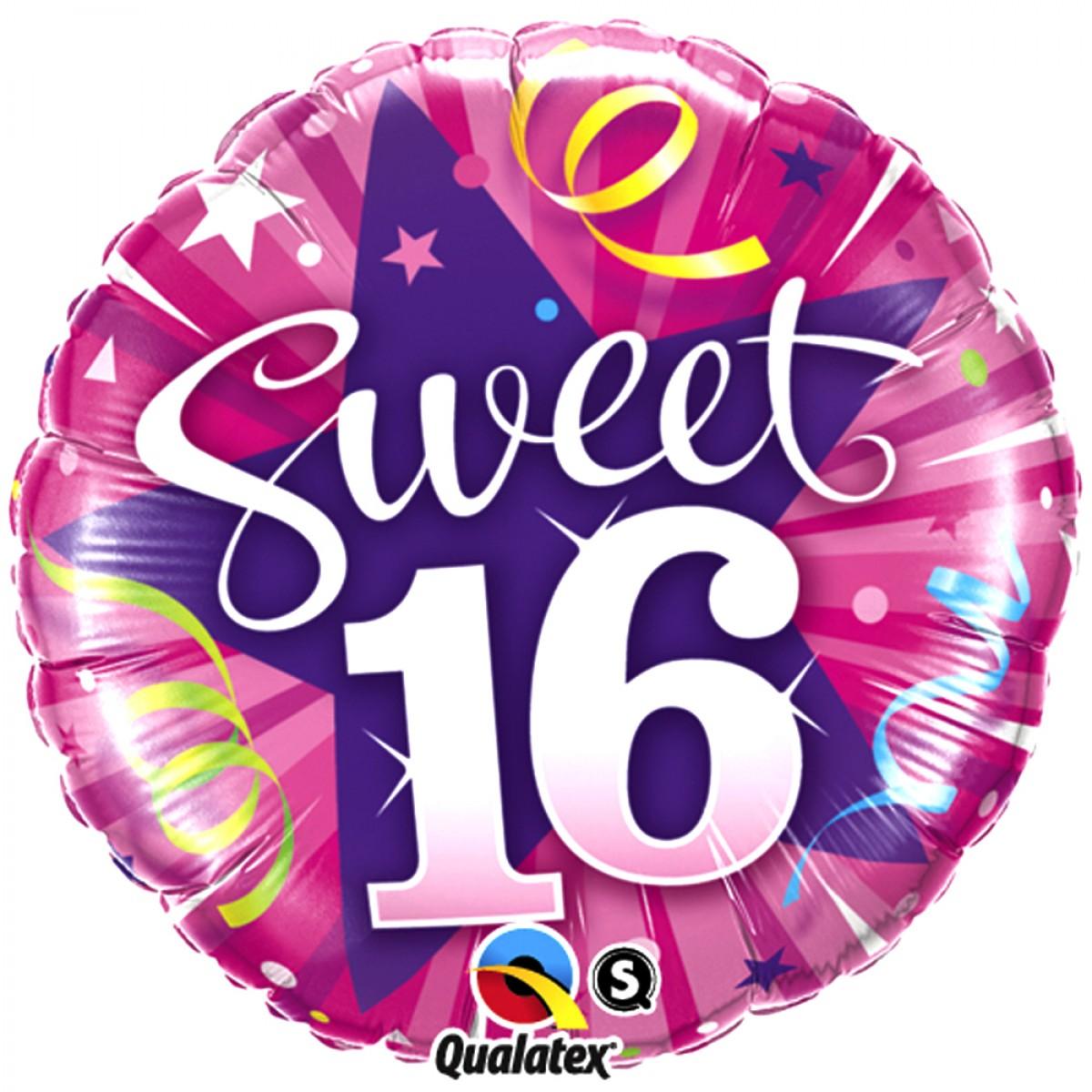 Shining Star Sweet 16th Pink Birthday Foil